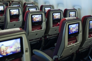 Interior de um dos aviões da Tam