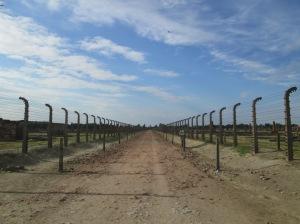 O campo Auschwitz II-Birkenau parece não ter fim