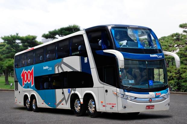 Um dos ônibus da frota da 1001