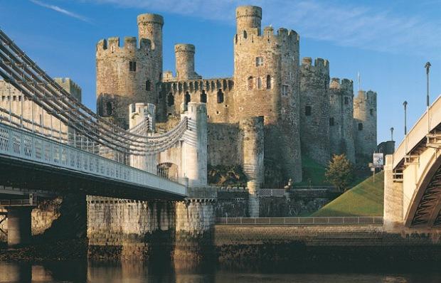O castelo de Conwy é uma das atrações participantes