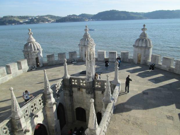 Parte do terraço da Torre de Belém