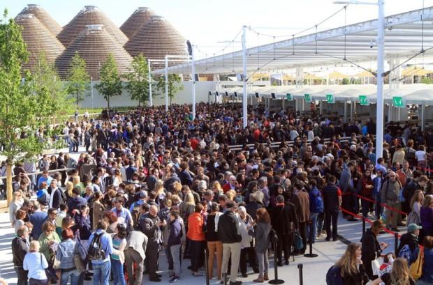 A Expo já teve dias com filas enormes - mas não foi sempre assim