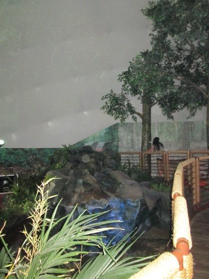 """""""Floresta"""" dentro do pavilhão"""