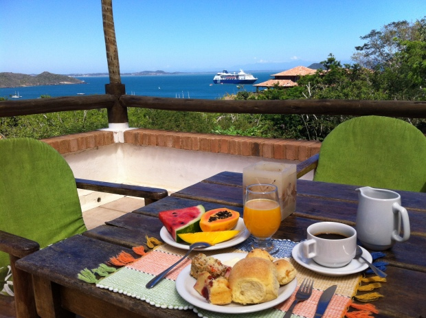 Dá para tomar café da manhã com vista