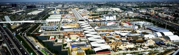 Vista aérea da Expo Milão