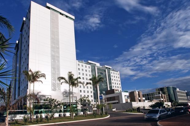 Fachada do hotel Blue Tree Premium Jade Brasília