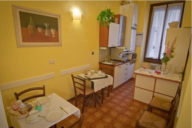 Cozinha e área de café da manhã do Al Duomo